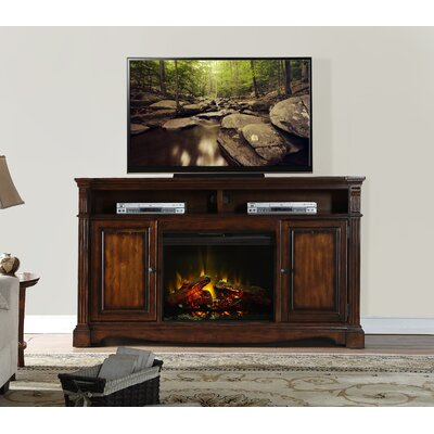 Carrow 72 TV Stand with Fireplace