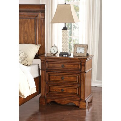 Carrow 3 Drawer Nightstand