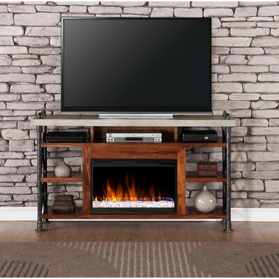 Perei 62 TV Stand with Fireplace