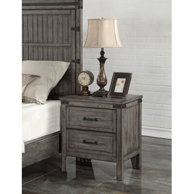 Jigna 2 Drawer Nightstand