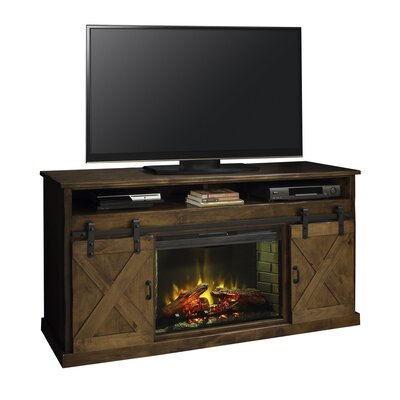 Pullman 66 TV Stand with Fireplace Color: Aged Whiskey