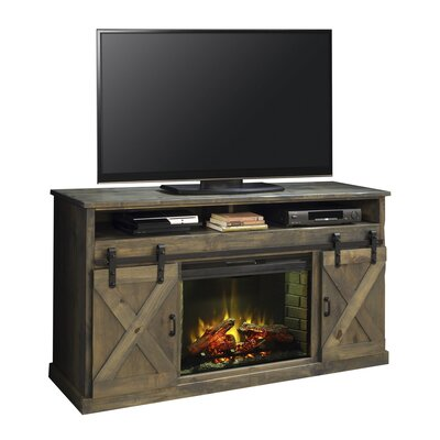 Pullman 66 TV Stand with Fireplace Color: Barnwood