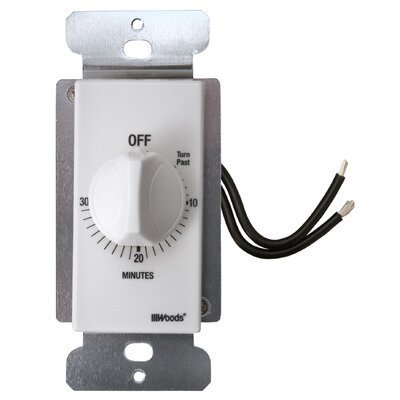 In-Wall 15-Minute Spring Wound Timer