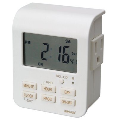 7-Day Heavy Duty Digital Outlet Timer