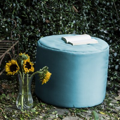 Ayala Outdoor Pouf Ottoman Color: Lagoon Blue