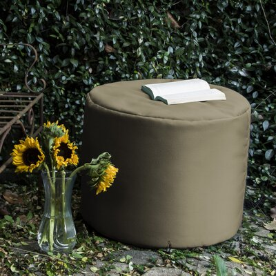 Ayala Outdoor Pouf Ottoman Color: Taupe