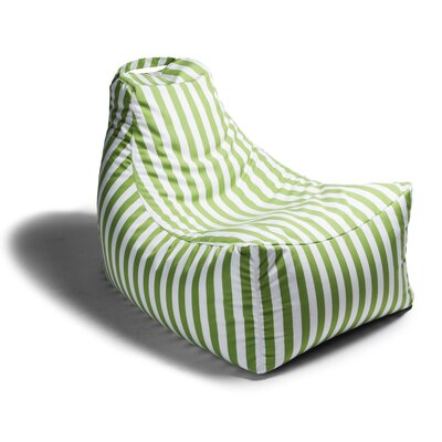 Juniper Outdoor Striped Bean Bag Lounger Upholstery: Lime Stripe