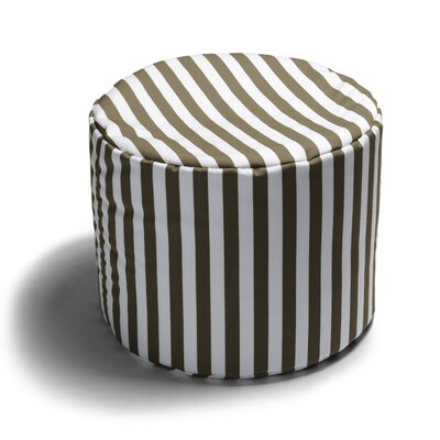 Ayala Striped Outdoor Pouf Ottoman Color: Taupe Stripe