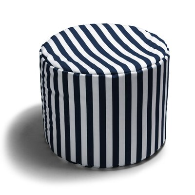 Ayala Striped Outdoor Pouf Ottoman Color: Navy Stripe