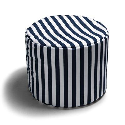 Jaxx Striped Outdoor Pouf Ottoman Color: Navy Stripe