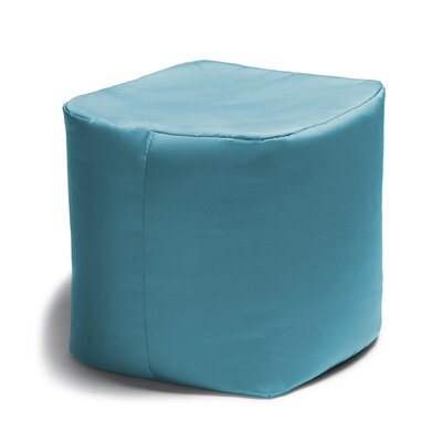 Ayala Square Outdoor Pouf Ottoman Color: Lagoon Blue