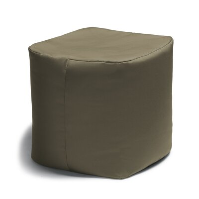 Ayala Square Outdoor Pouf Ottoman Color: Taupe