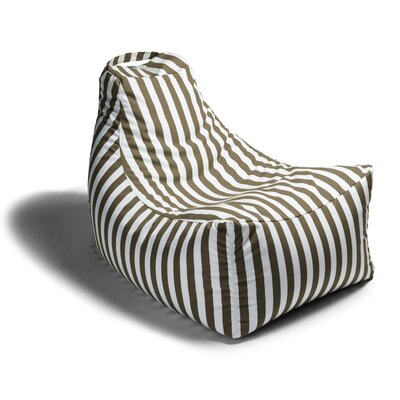 Juniper Outdoor Striped Bean Bag Lounger Upholstery: Taupe Stripe