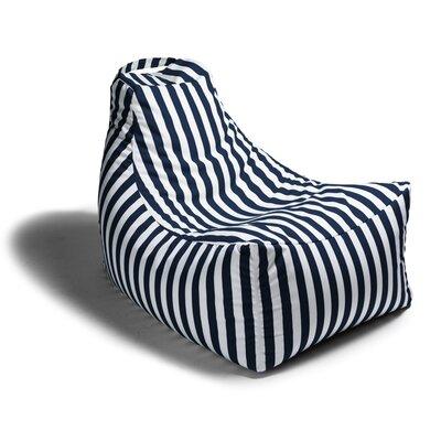 Juniper Outdoor Striped Bean Bag Lounger Upholstery: Navy Stripe