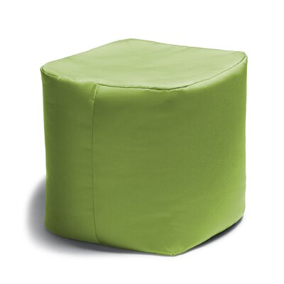 Ayala Square Outdoor Pouf Ottoman Color: Lime Green
