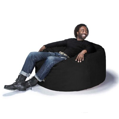 Large Bean Bag Chair Upholstery: Black