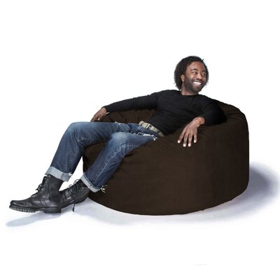 Large Bean Bag Chair Upholstery: Chocolate