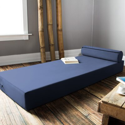 Ansley Daybed with Bolster Pillow with Mattress Color: Blue