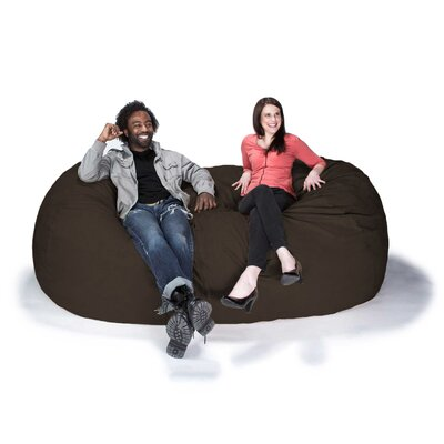 Giant Bean Bag Sofa Upholstery: Chocolate