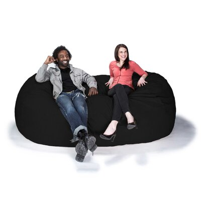 Giant Bean Bag Sofa Upholstery: Black