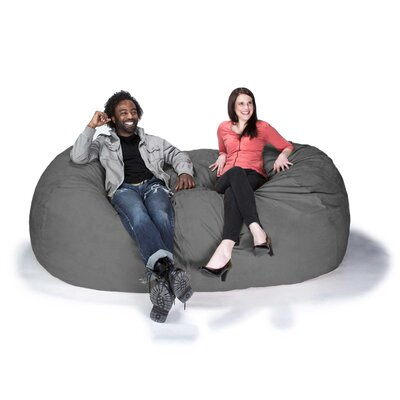 Giant Bean Bag Sofa Upholstery: Microsuede Charcoal