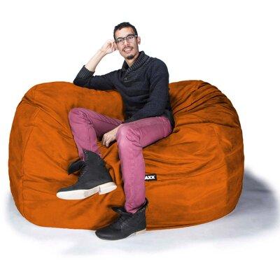 Bean Bag Loveseat Upholstery: Microsuede Orange