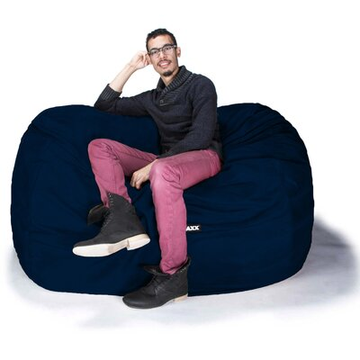 Bean Bag Loveseat Upholstery: Microsuede Navy
