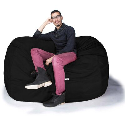 Bean Bag Loveseat Upholstery: Black