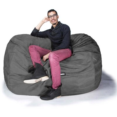 Bean Bag Loveseat Upholstery: Microsuede Charcoal