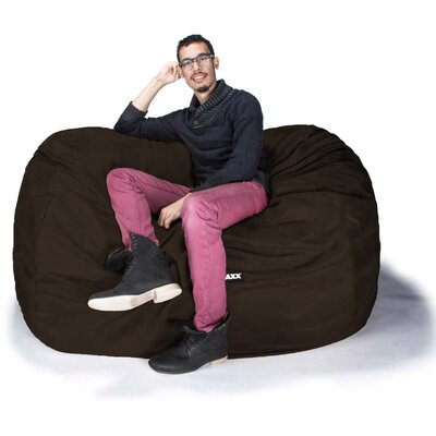 Bean Bag Loveseat Upholstery: Premium Chocolate