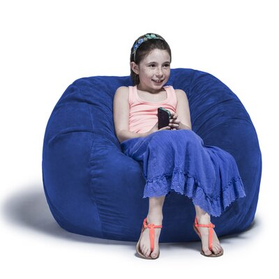Kids Bean Bag Chair Upholstery: Microsuede Blueberry