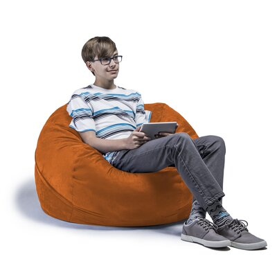 Kids Bean Bag Chair Upholstery: Microsuede Orange