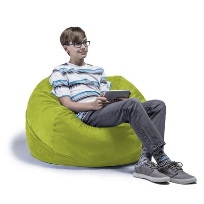 Kids Bean Bag Chair Upholstery: Lime