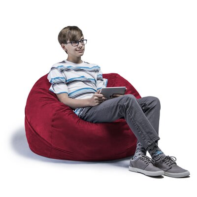 Kids Bean Bag Chair Upholstery: Cherry
