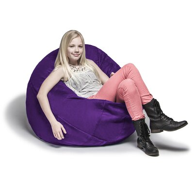 Cocoon Bean Bag Lounger Upholstery: Plum