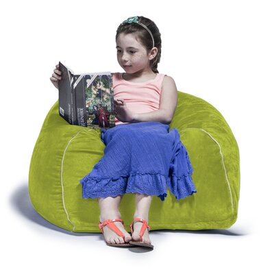 2.5 Kids Club Bean Bag Chair Upholstery: Lime
