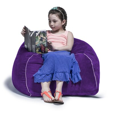 2.5 Kids Club Bean Bag Chair Upholstery: Plum