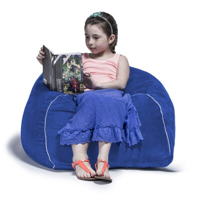 2.5 Kids Club Bean Bag Chair Upholstery: Blueberry