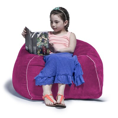 2.5 Kids Club Bean Bag Chair Upholstery: Fuchsia