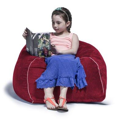 2.5 Kids Club Bean Bag Chair Upholstery: Cherry