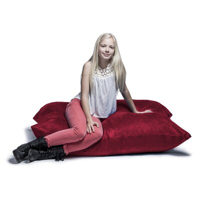 Jaxx Jr. Pillow Saxx Bean Bag Lounger Upholstery: Cherry