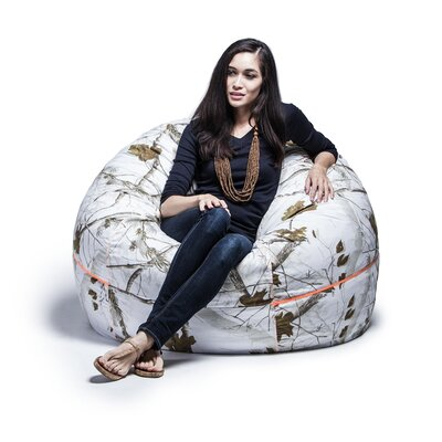 Realtree 4 Bean Bag Chair Upholstery: White