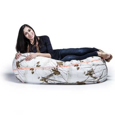 Realtree Bean Bag Sofa Upholstery: White
