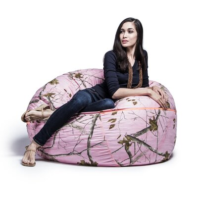 Realtree 4 Bean Bag Chair Upholstery: Pink