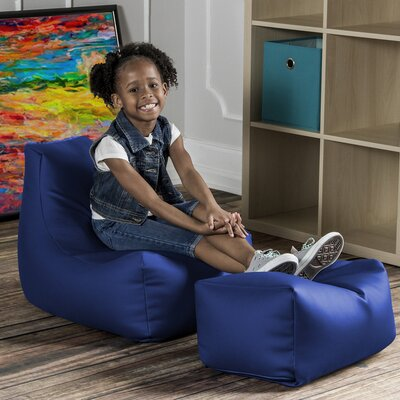Juniper Kids Chair and Ottoman Color: Royal Blue