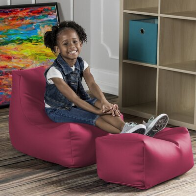 Juniper Kids Chair and Ottoman Color: Rose