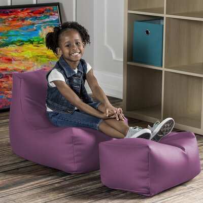Juniper Kids Chair and Ottoman Color: Lilac