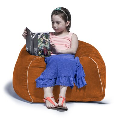 2.5 Kids Club Bean Bag Chair Upholstery: Pumpkin