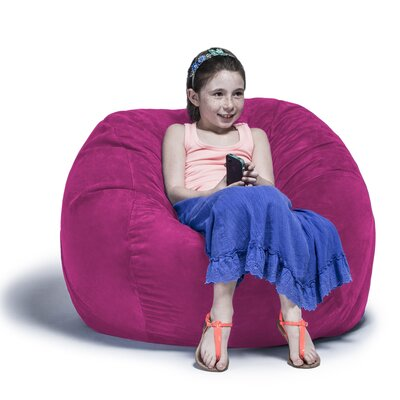 Kids Bean Bag Chair Upholstery: Fuchsia