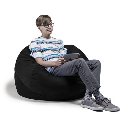 Kids Bean Bag Chair Upholstery: Black
